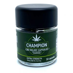 Champion Hemp Farms 50mg CBD Capsules